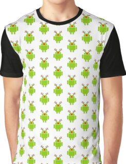 Red Nosed Android Robot Graphic T-Shirt