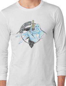 Jil Renegade Merchant pin-up - distressed (for light background) Long Sleeve T-Shirt