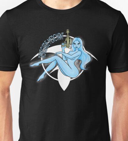 Jil Renegade Merchant pin-up (for dark background) Unisex T-Shirt