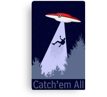 Gotta Abduct'em All Canvas Print