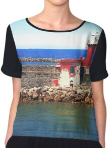 Red Lighthouse Chiffon Top