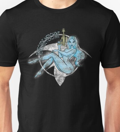 Jil Renegade Merchant pin-up - distressed (for dark background) Unisex T-Shirt