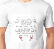 Sarcasm and Wine Unisex T-Shirt