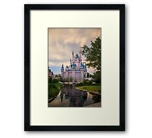 Cinderella Castle Sunset Framed Print