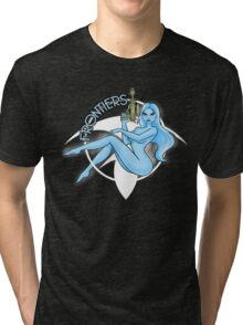 Jil Frontiers pin-up (for dark background) Tri-blend T-Shirt