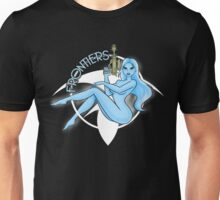 Jil Frontiers pin-up (for dark background) Unisex T-Shirt