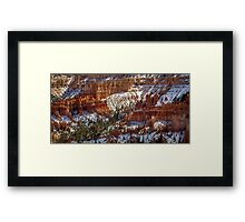 Bryce After The Snow or Chilly Hoodoos Framed Print