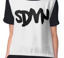 SDMN Brush Text (White) Chiffon Top