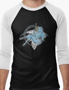 Jil Frontiers pin-up - distressed (for dark background) Men's Baseball ¾ T-Shirt