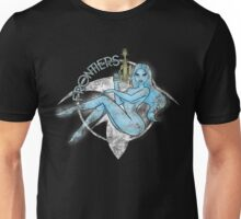 Jil Frontiers pin-up - distressed (for dark background) Unisex T-Shirt