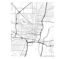 Mississippi Map, USA - Black and White Photographic Print
