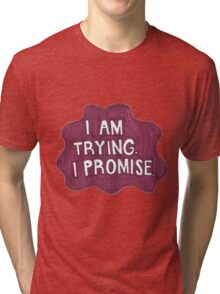 Berry Quote Splat Tri-blend T-Shirt