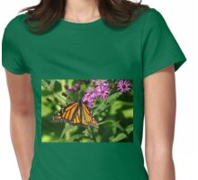 Monarch On Asters Womens Fitted T-Shirt