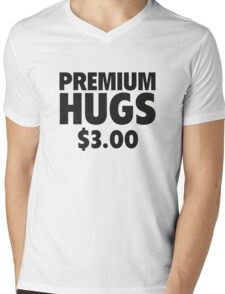 Premium Hugs Mens V-Neck T-Shirt