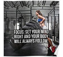 FOCUS. Set Your Mind Right. Poster