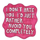 Hot Pink Quote Splat by rbx11