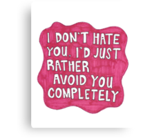 Hot Pink Quote Splat Canvas Print
