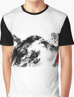 Japanese snow mountain scene Graphic T-Shirt