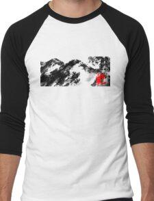 Japanese snow mountain scene Men's Baseball ¾ T-Shirt