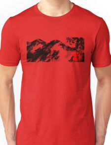 Japanese snow mountain scene Unisex T-Shirt