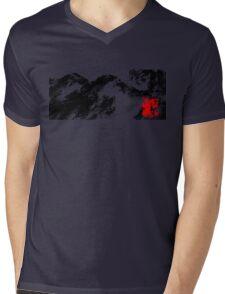 Japanese snow mountain scene Mens V-Neck T-Shirt