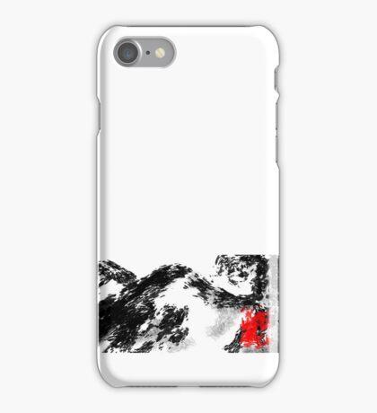 Japanese snow mountain scene iPhone Case/Skin