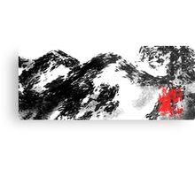 Japanese snow mountain scene Metal Print