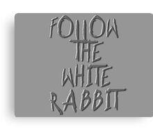 Follow the white rabbit... Canvas Print