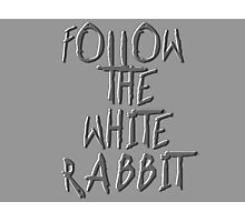 Follow the white rabbit... Photographic Print