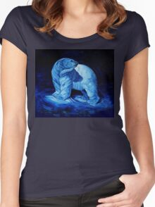 Blue Prince Charming, the Polar Bear  Women's Fitted Scoop T-Shirt
