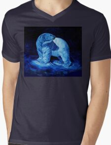 Blue Prince Charming, the Polar Bear  Mens V-Neck T-Shirt