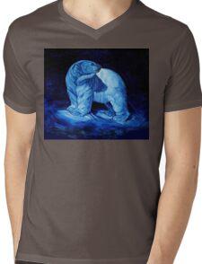 Blue Prince Charming, the Polar Bear  Mens V-Neck T-Shirt
