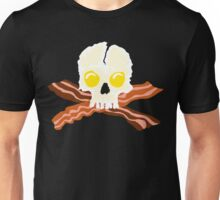 Bacon Crossbones Eggs Skull Unisex T-Shirt