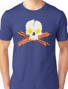 Bacon Crossbones Eggs Skull Unisex T-Shirt