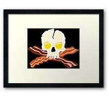 Bacon Crossbones Eggs Skull Framed Print