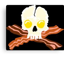 Bacon Crossbones Eggs Skull Canvas Print
