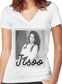 Black Pink - Jisoo Women's Fitted V-Neck T-Shirt