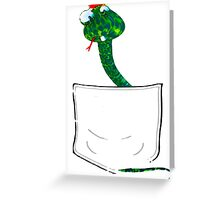 Snake in my Pocket! Greeting Card