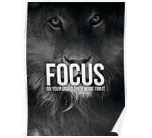 FOCUS On Your Goals (Lion Motivation) Poster