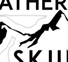 I'D RATHER BE Skiing Mountain Mountains ID SKIING SKI Skis Silhouette Snowboard Snowboarding Sticker