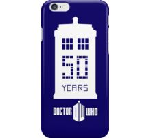 50 years dr who iPhone Case/Skin