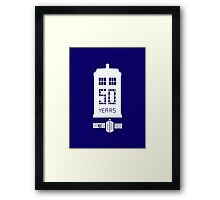 50 years dr who Framed Print