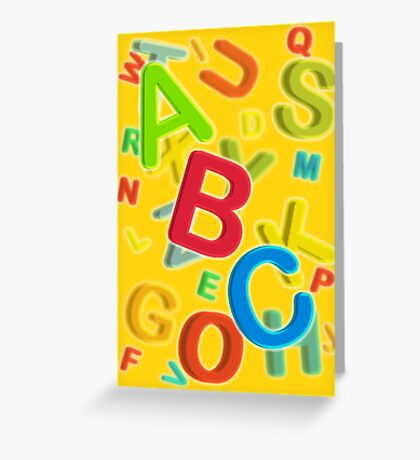 ABC Greeting Card