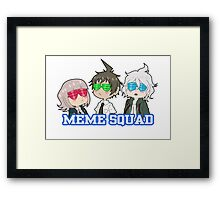 MEME SQUAD Framed Print