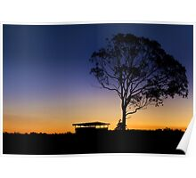 A country Sunset - Near Dalby Qld Australia Poster