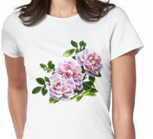 Three Pink Roses With Leaves T-Shirt