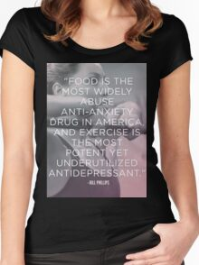 Food vs Exercise Women's Fitted Scoop T-Shirt