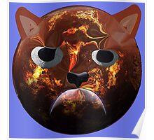 Grumpy Cat Planet Poster