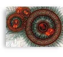 Fiery  clockwork Canvas Print