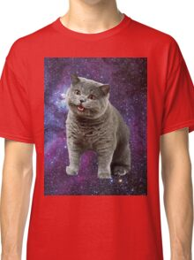 Cats Floating in a Galaxy Classic T-Shirt